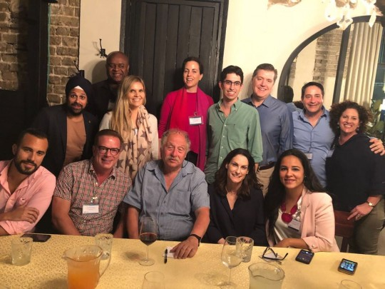 Our group together with Yossi Vardi who hosted our opening dinner in Tel Aviv